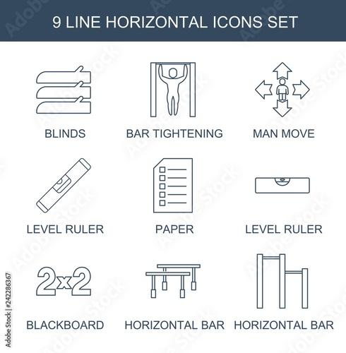 Fotografiet  horizontal icons