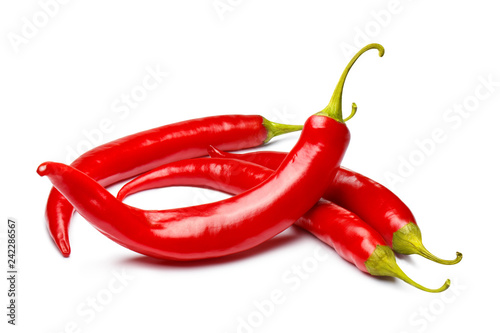 Cadres-photo bureau Hot chili Peppers Red chili peppers, isolated on white background