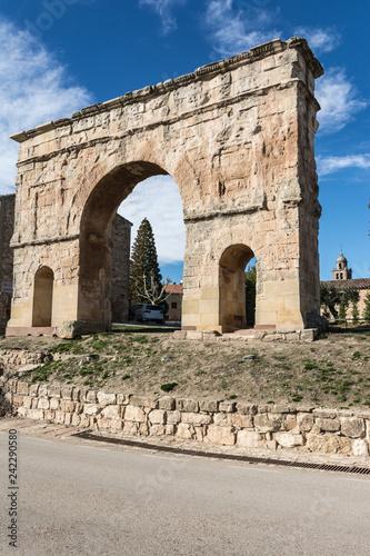 Fotografie, Obraz  The Arch of Medinaceli is a unique example of monumental Roman triumphal arch within Hispania