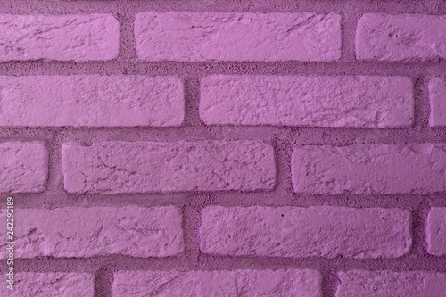 Fotografie, Obraz  design vintage purple brick wall texture for background use.