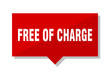 free of charge red tag