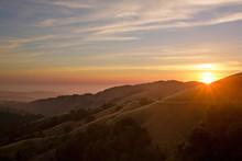 Sunset Over California Mountai...