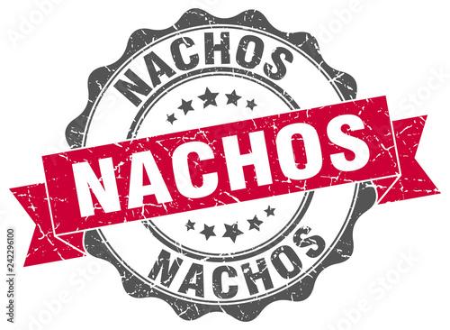 Fotomural  nachos stamp. sign. seal