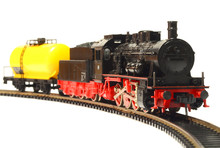 Steam Loco Model Train Isolated On White