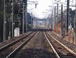 JR常磐線の直線で続く線路