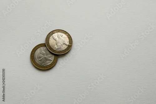 Fotografía  Two coins issued in Russia on the day of victory over Fascism