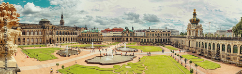 Fotobehang Historisch geb. Dresden, Germany - August 4, 2017: Zwinger - late German Baroque, founded in the early 18th century. a complex of four magnificent palace buildings.