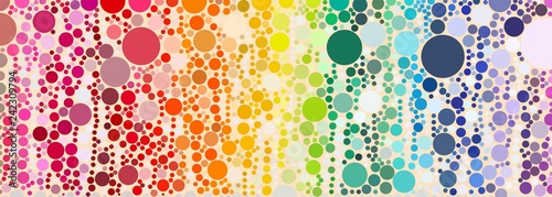 Photo  colorful dot pattern in swirl motion and various size look like fizzy bubble bac