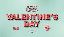 Valentines Day Retro Card