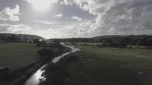 Sun Shines Over Ogmore Castle, Aerial