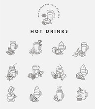 Vector Icon And Logo Hot Drink...