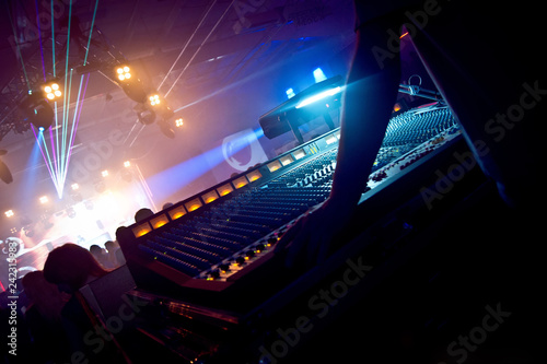 Fotografie, Obraz  Professional sound engineer console at concert