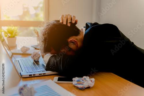 Fotografie, Obraz  Businessman strain on earnings.