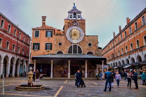 Tuinposter Centraal Europa Venedig, San Giacomo di Rialto