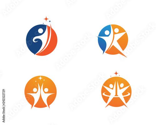 Photo Human character logo sign Health care logo sign  Vector