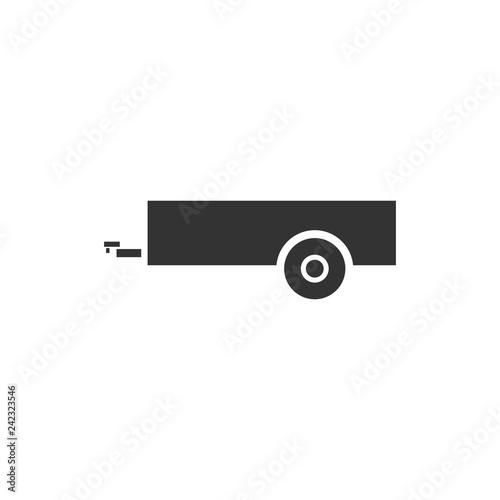 Canvastavla Car trailer icon flat