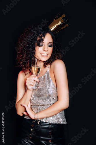 Champagne drinking Sexy girl