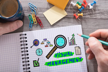 Visual Management Concept On A Notepad