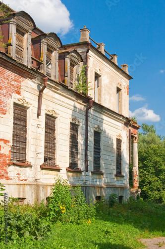 Fotografie, Obraz  Destroyed the old historic mansion