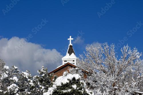 Fotografie, Obraz  Catholic Mission in New Mexico