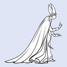 High Rank Catholic Priest With...