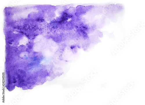 Abstract Purple Watercolor On White Background Abstract