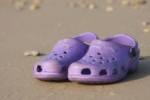 Purple Crock Shoes