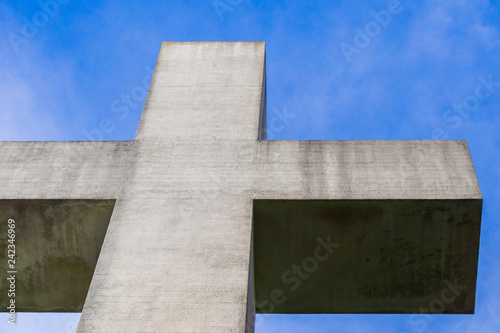 Detail of the cross on top of Mt Davidson, San Francisco, California Tablou Canvas