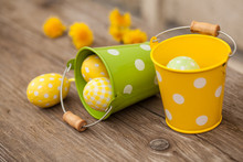 Tin Buckets And Easter Eggs