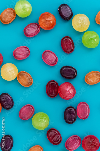 Still life of colorful candies.