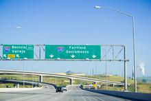 Freeway Interchange Sign In Ea...