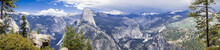 Panoramic View Towards Towards Half Dome, Yosemite National Park, California