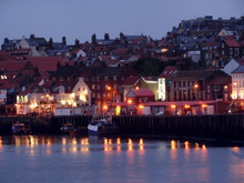 Whitby Harbour At Dusk, North ...