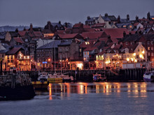 Whitby Harbour At Dusk, North Yorkshire