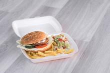 Tasty Delicious Hamburger In B...