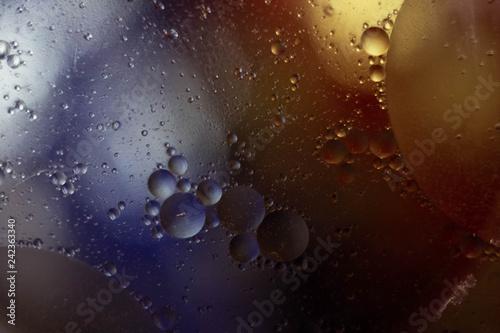 Fototapeta Abstract photo with oil spots on the water obraz na płótnie