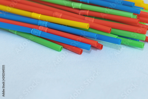 Many colorful drinking straws with free copy space Wallpaper Mural
