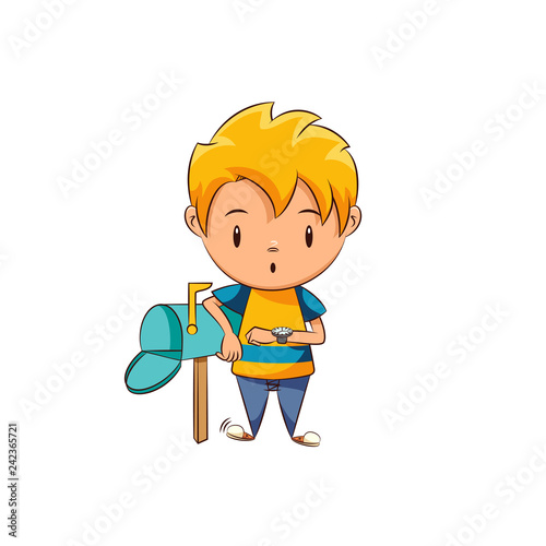 Waiting For Mail >> Kid Waiting Mail Buy This Stock Vector And Explore Similar Vectors