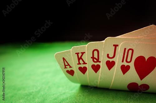 фотография  Poker Gambling Royal Flush