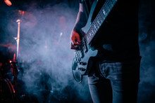 Concert Bass Guitar At Work
