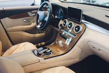 Car Modern Interior With White...