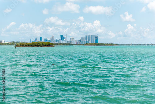 Fotografie, Obraz  Sunny day in Bal Harbour, Miami Florida with light green turquoise ocean Biscayn