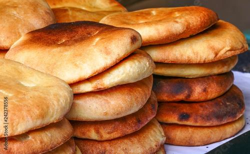 Fototapeta Flatbreads - płaskie chleby ścienna