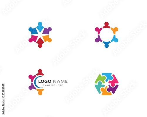 Fotografia  community care Logo template