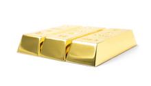 Three Shining Gold Bars Isolat...