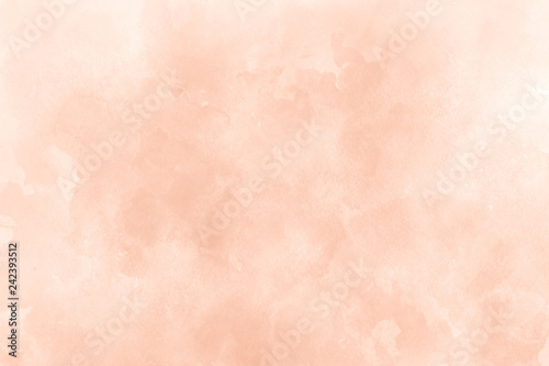 Orange ink and watercolor textures on white paper background Wallpaper Mural