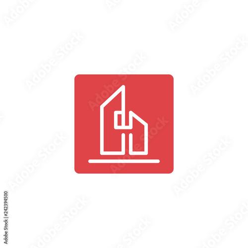 Fotografie, Obraz  letter h architect, home, construction creative logo template