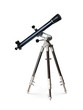 canvas print picture - Telescope standing on tripod over white background