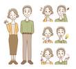 老夫婦 表情 セット
