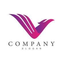Eagle Letter V Logo Design